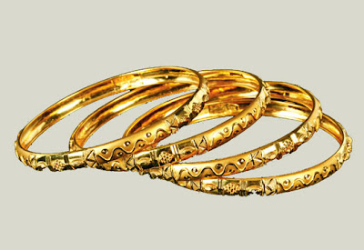 Stylish Gold Bangles Designs 2012