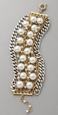 Napier glass pearl bracelet.