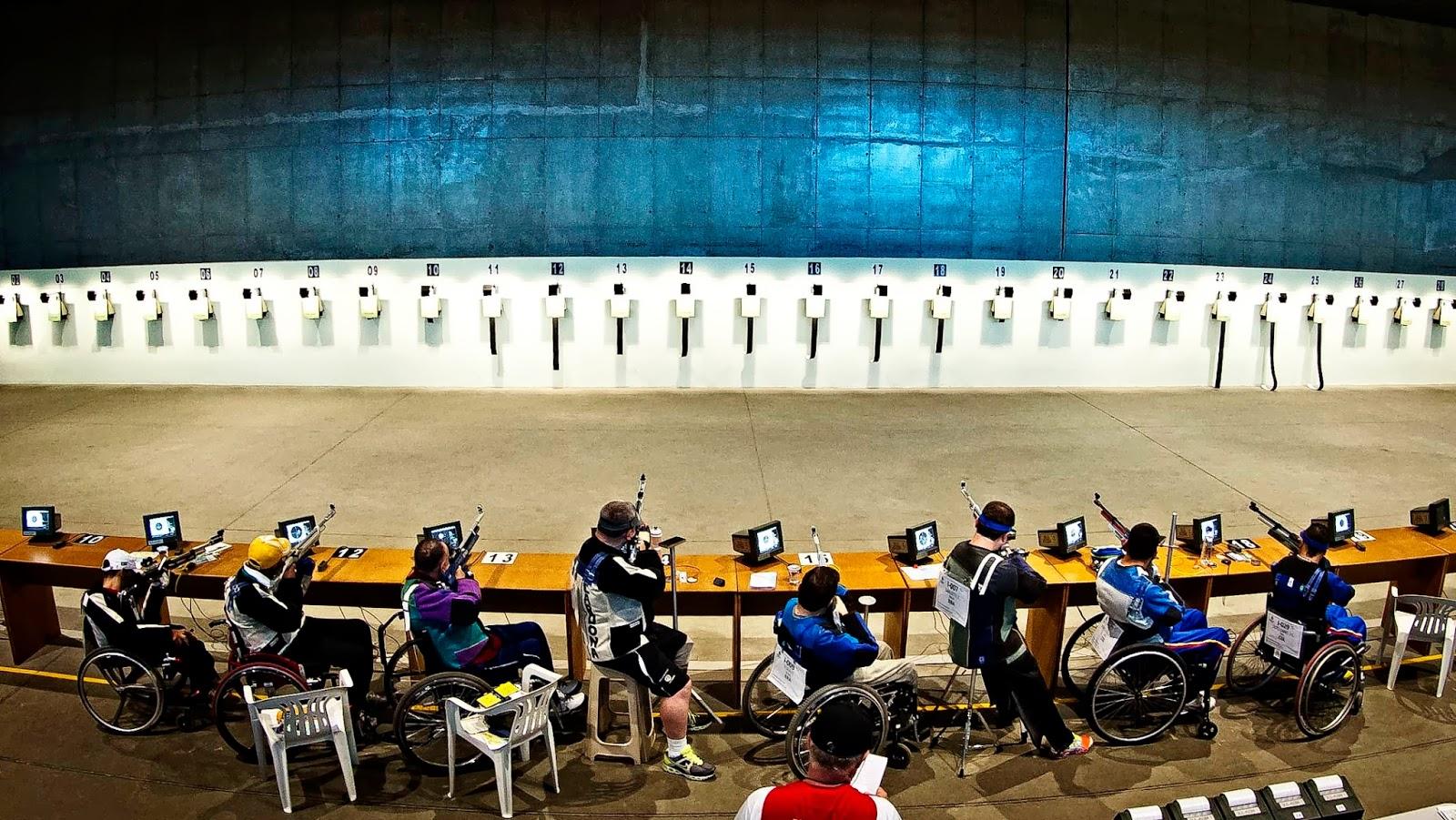 Atletas do Tiro Paradesportivo competem no CNTE - Foto: Marcio Rodrigues / MPIX / CPB