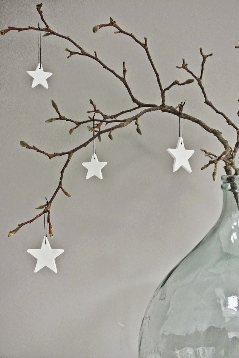 Diy Christmas Decorations Nz : Adornos navide?os de porcelana fr?a con un look n?rdico