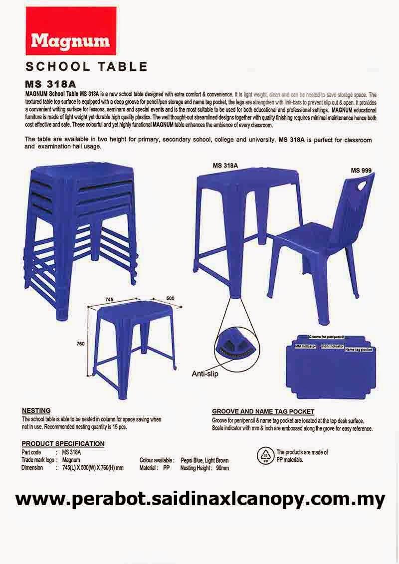 Meja Sekolah / Peperiksaan Plastik | School / Examination tables