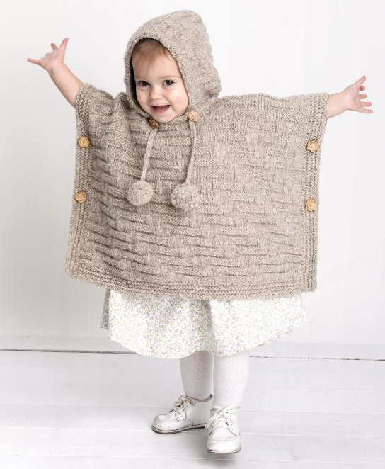 Knitting Pattern Baby Poncho With Hood : Everyday Life at Leisure: Heirloom Knitting for Baby