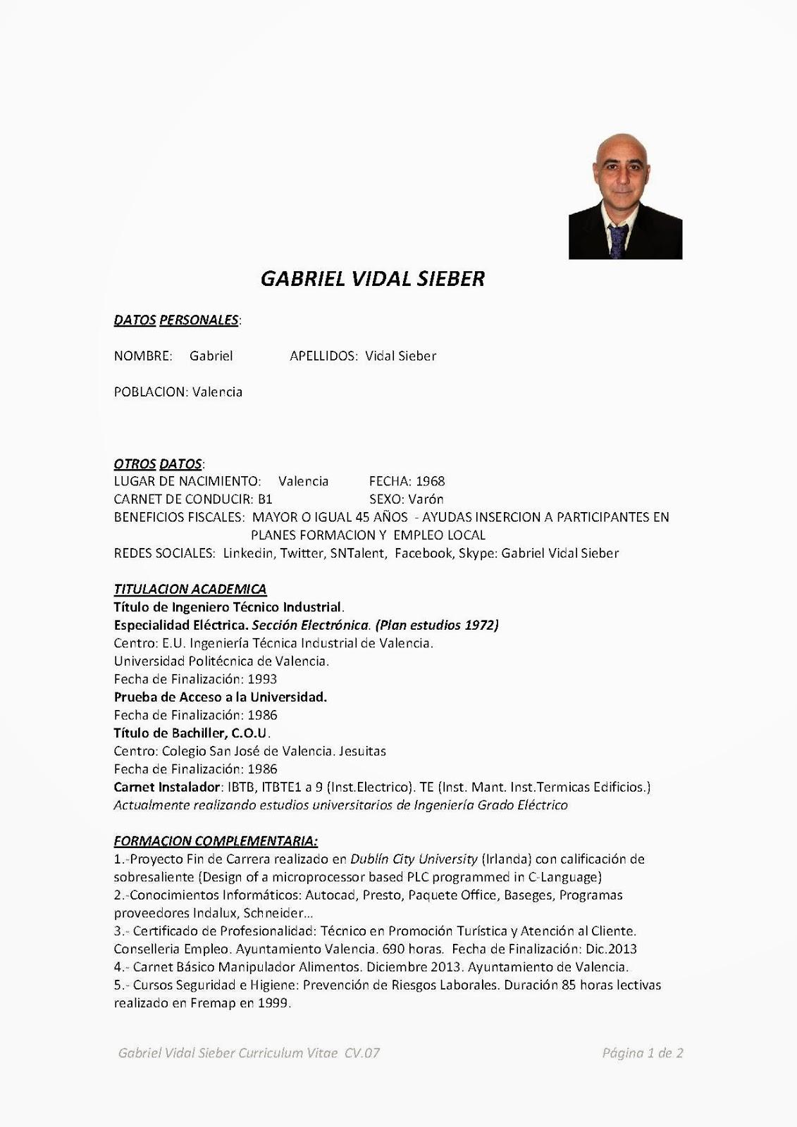 Bonito Mi Currículum Fotos Modelo - Ejemplo De Colección De ...