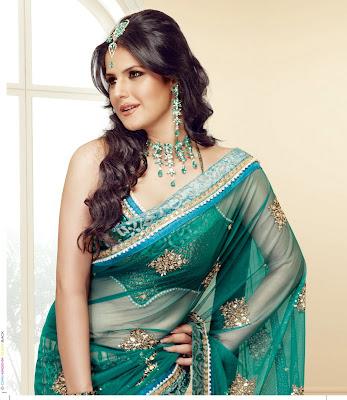 Zarine khan looking gorgeous in saree