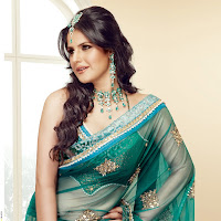 Zarine khan looking gorgeous in saree