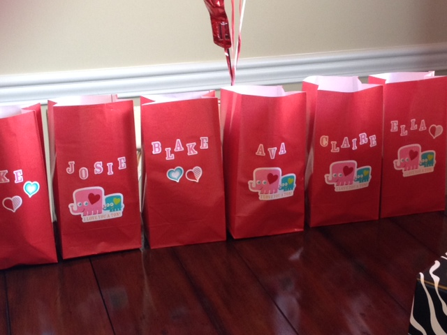 i made little valentines day goodie bags for all the kids - Valentine Goodie Bag Ideas