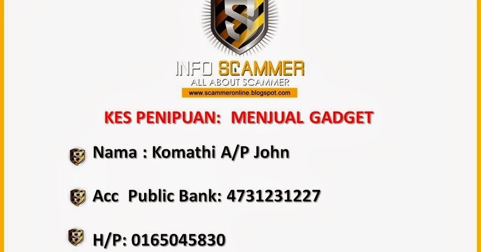 Senarai Penipu Online No Akaun Bank Scammer 4731231227 Penipuan