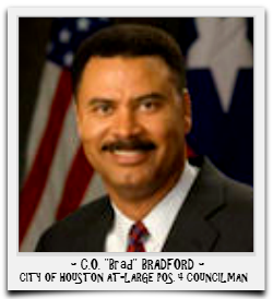 C.O. BRADFORD IS CURRENTLY SERVING HIS FINAL TERM