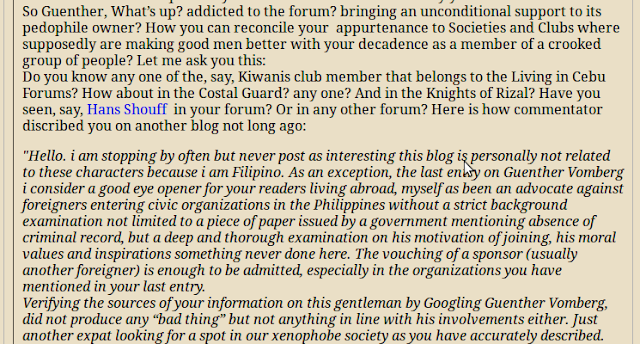 """Evan Iliadis commenting on his own Blog under an alias as """"Bystander"""""""