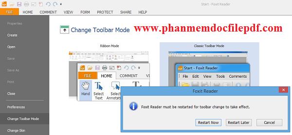 Hướng dẫn thay đổi giao diện và thanh công cụ của Foxit Reader