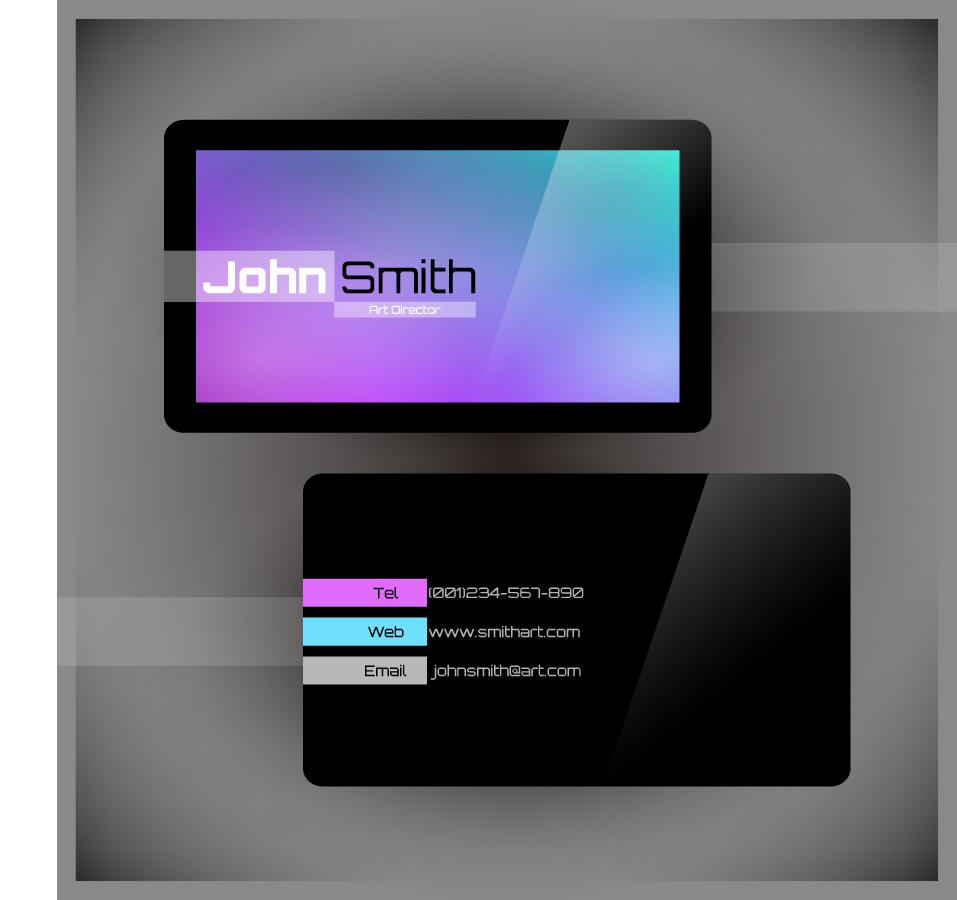 流行の名刺テンプレート gorgeous simple business card templates イラスト素材4