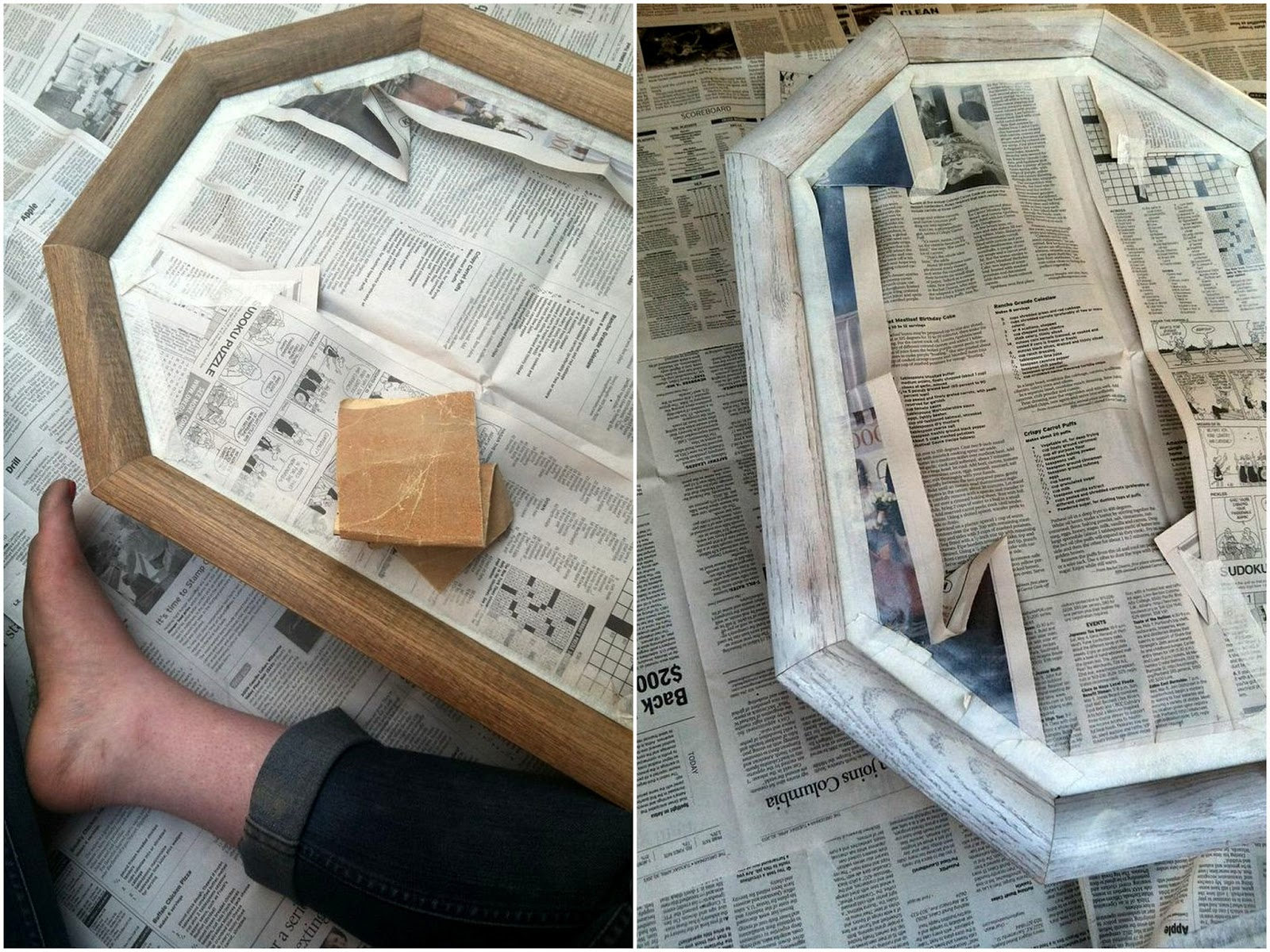 Adventures in Dressmaking: New home project, new ugly mirror for