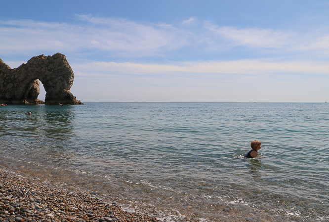 Clear water at Durdle Door  by Alexis www.somethingimade.co.uk