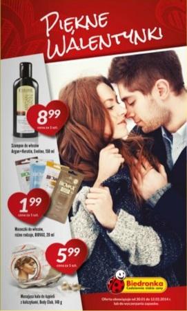 Walentynkowa gazetka Biedronki