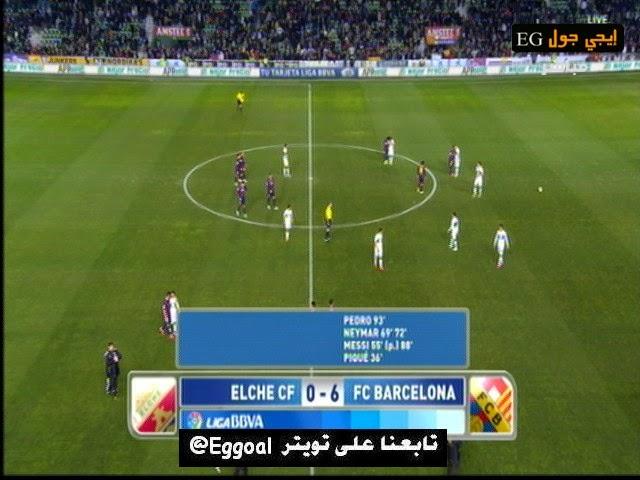شاهد اهداف مبارة برشلونة 6 - 0 إلتشي 24/1/2015 الدورى الاسبانى