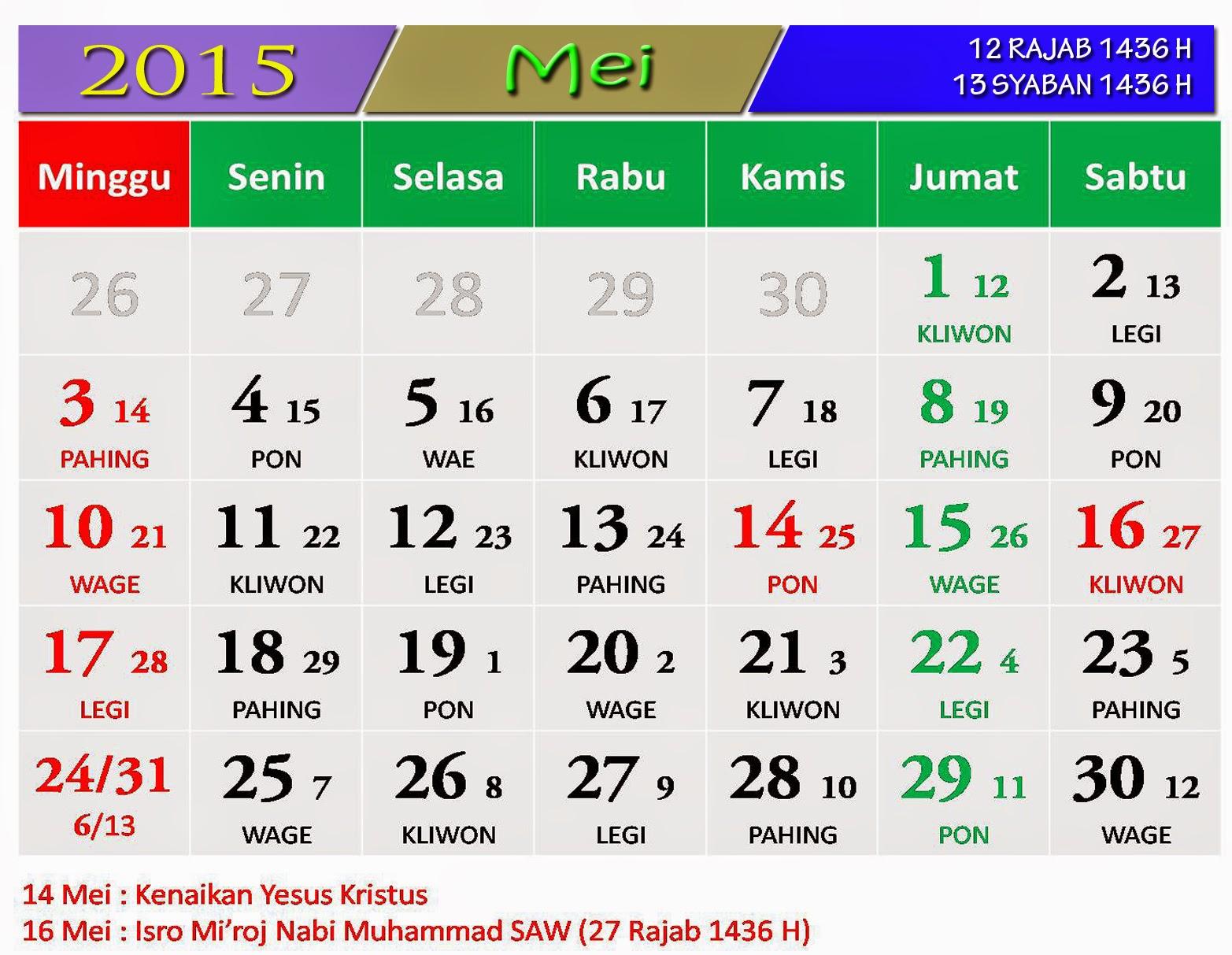 Kalender Jawa Bulan Mei 2015 | Search Results | Calendar 2015