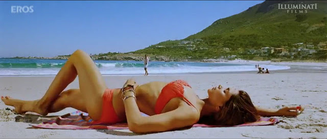Deepika Padukone in Red Bikini for Coctail Movie on beach - Deepika Padukone in Red Bikini - Coctail Movie