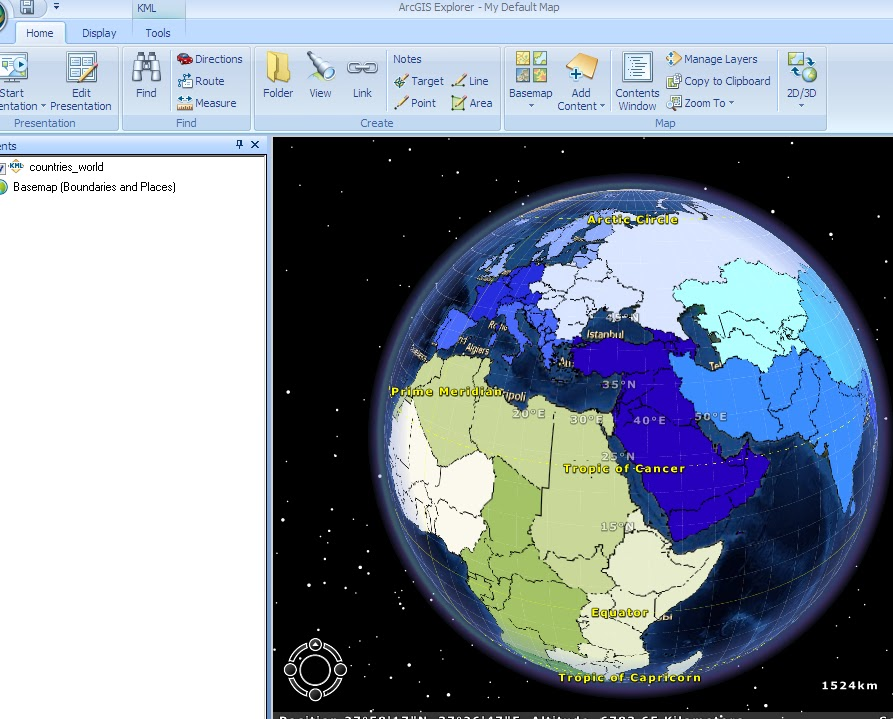 A basis life free countries of the world in a polygon kml file and looks like this in arcgis explorer gumiabroncs Gallery