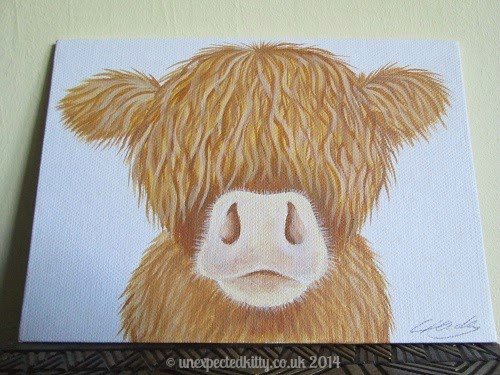 Cow painting by Lucy Tidbury