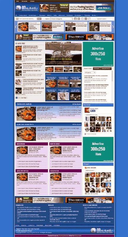 Maskolis Magazine Valid HTML 5 And CSS 3 Blogger Template