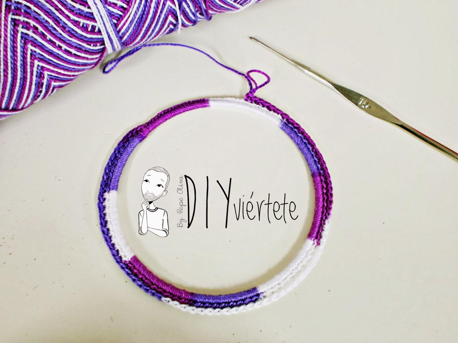 DIY-zarcillo-pendiente-bisutería-ganchillo-crochet-flamenca-Diyviértete2