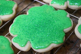 St Patrick's Day treats recipe: frosted shamrock cookies