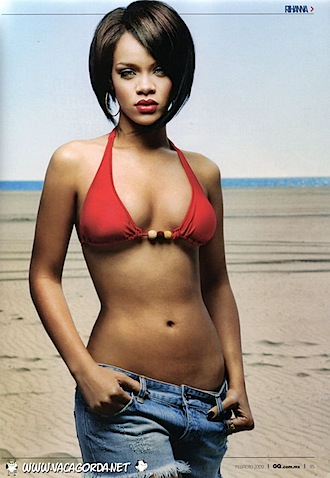 Usa singer Rihanna hot red bra