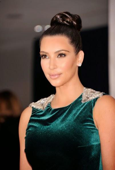 Kim Kardashian updos Braided Bun hairstyle