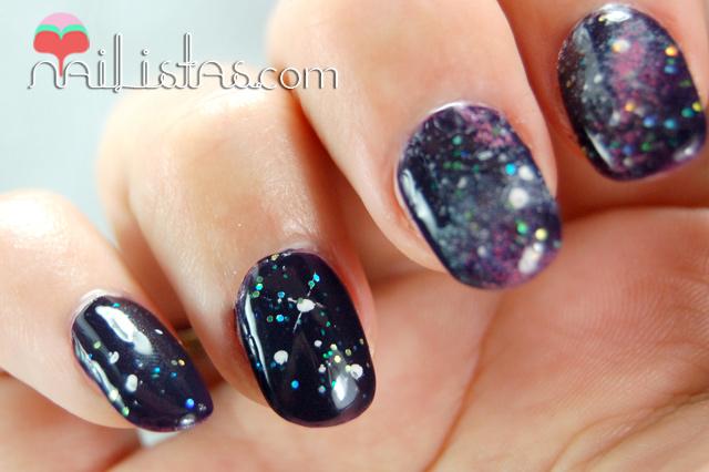 Dibujos para uñas // Uñas decoradas con galaxias // Galaxy nails