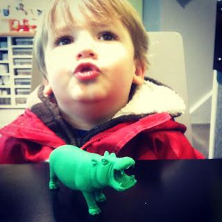 Pouting hippo