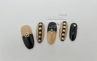 metallic stone nails