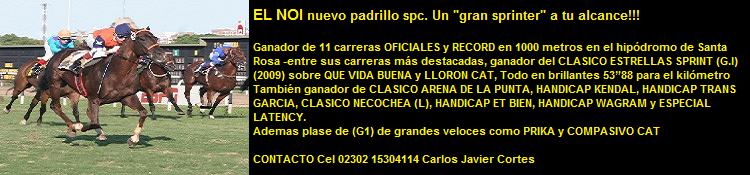 HARAS SANTA CATALINA DE LAGOS PRESENTA: