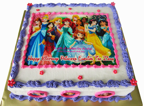 Birthday Cake Edible Image Disney Princess - Aisha Puchong ...