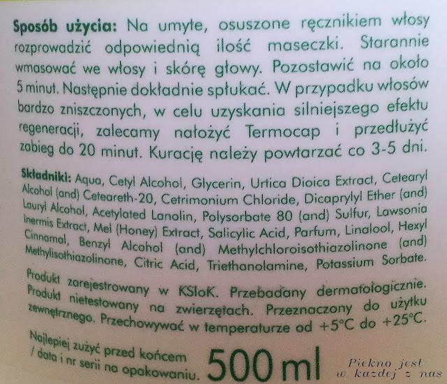 L`Biotica, Biovax, Intensywnie regenerująca maseczka do włosów
