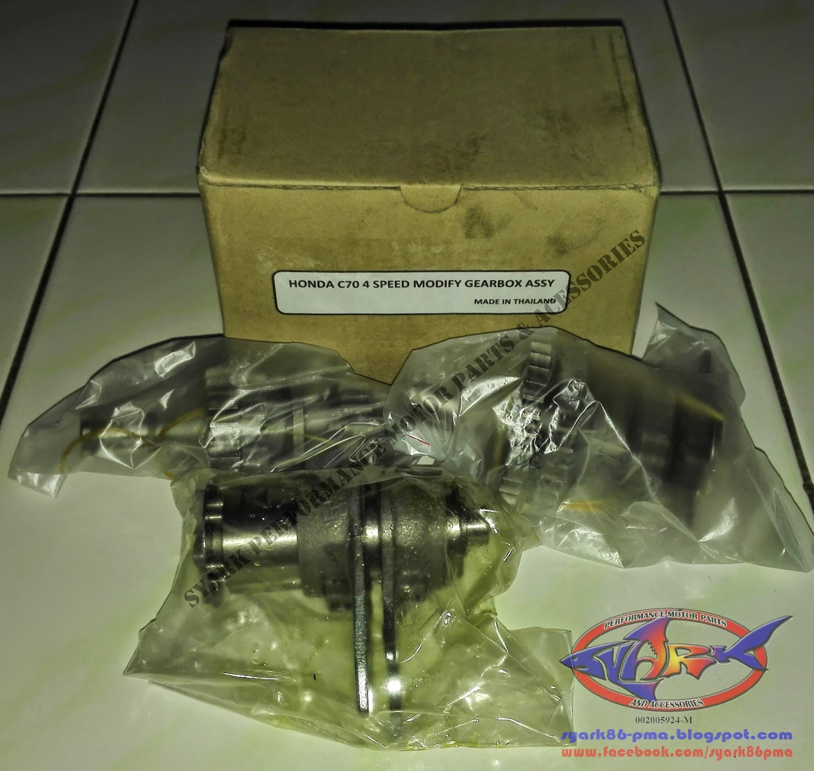 Syark Performance Motor Parts And Accessories Online Shop Est 1 Set Honda C70 New 4 Speed Modify Transmission Gearbox For