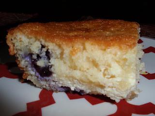 Italian Ricotta Lemon Cake With Blueberry Topping