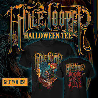 Alice Cooper's Halloween 2015 No One Gets Out Alice T-shirt