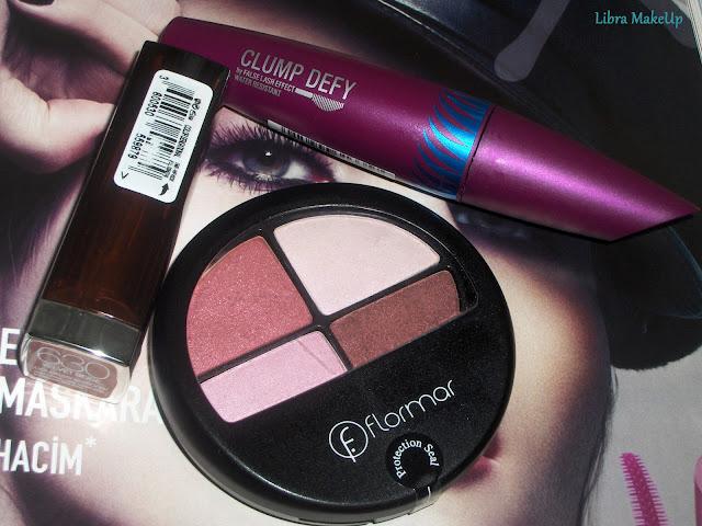 maybelline ruj 630, flormar 4 göz farı, eyeshadow