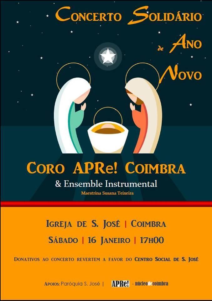 Concerto Solidário de Ano Novo, com o Coro APRe! de Coimbra