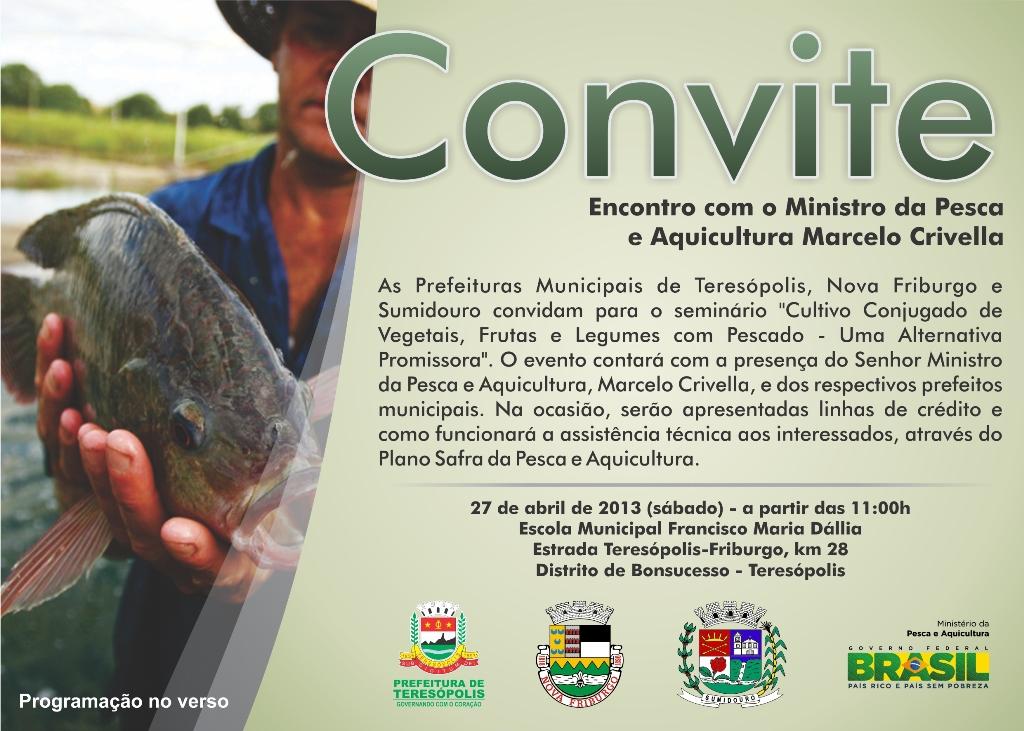 Seminário neste sábado, 27, com Ministro Marcelo Crivella