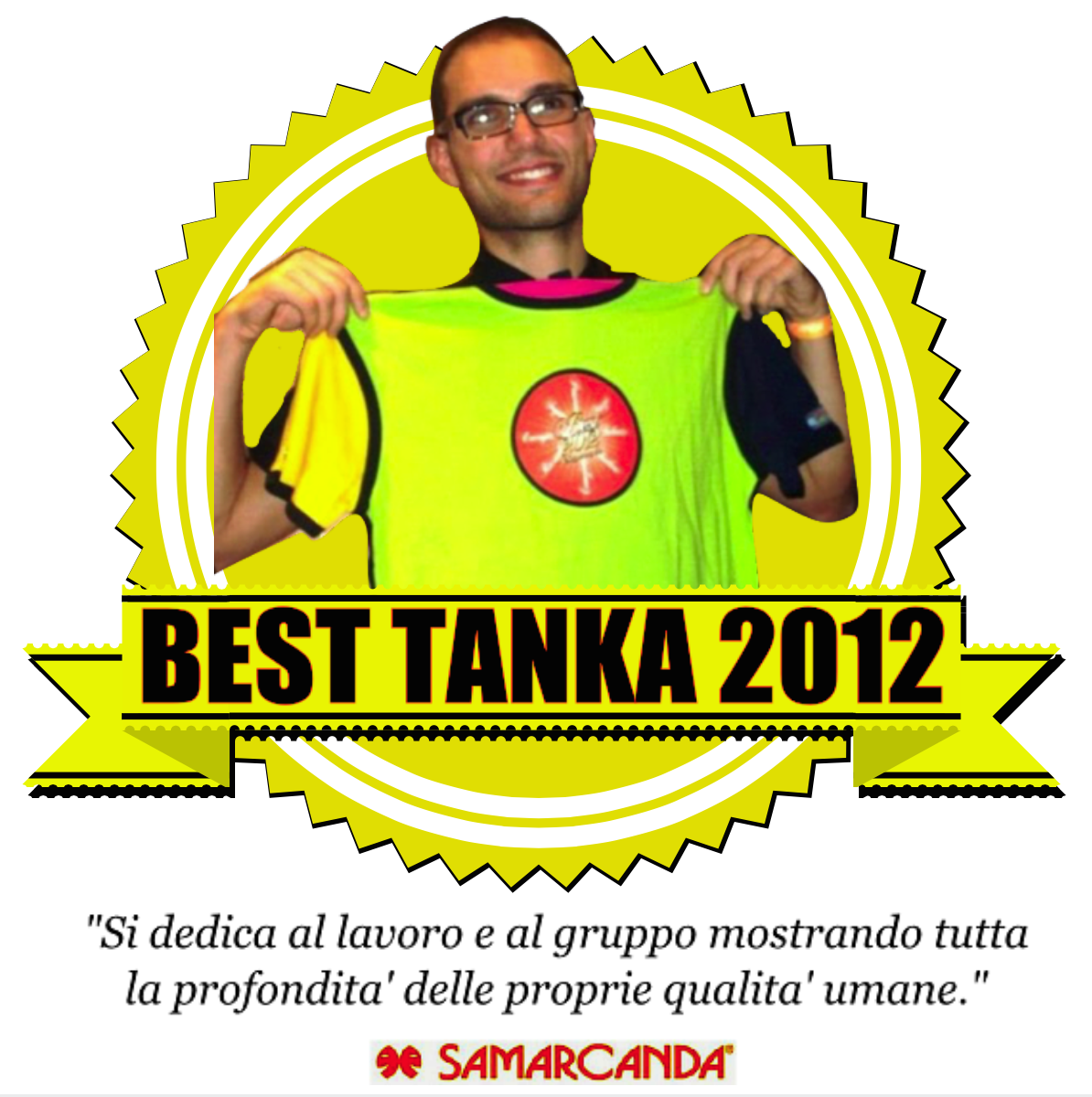 Premio Animatore BEST TANKA VILLAGE 2012