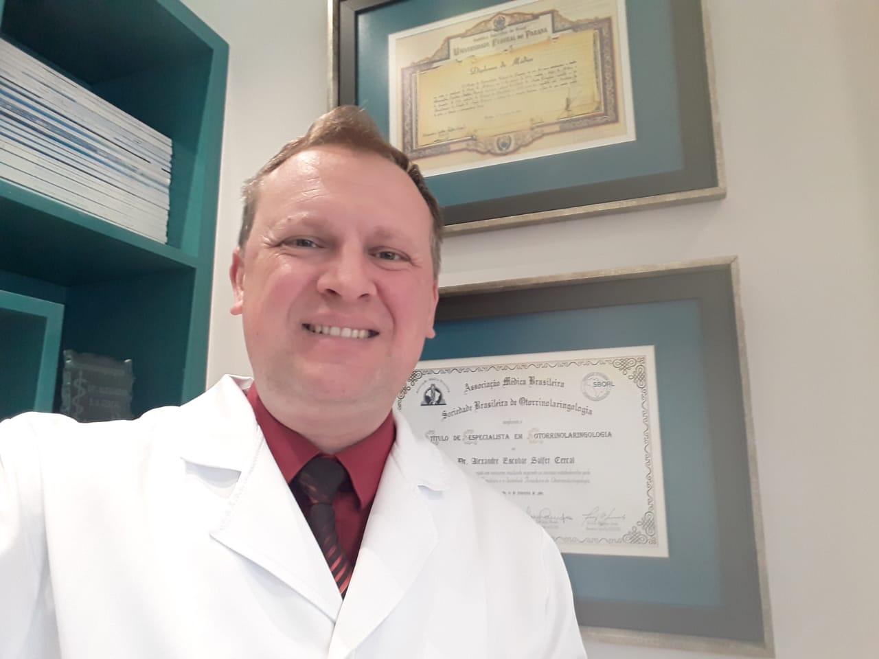 Dr Alexandre Cercal - Membro Efetivo da Associação Brasileira de Otorrinolaringologia e CCF