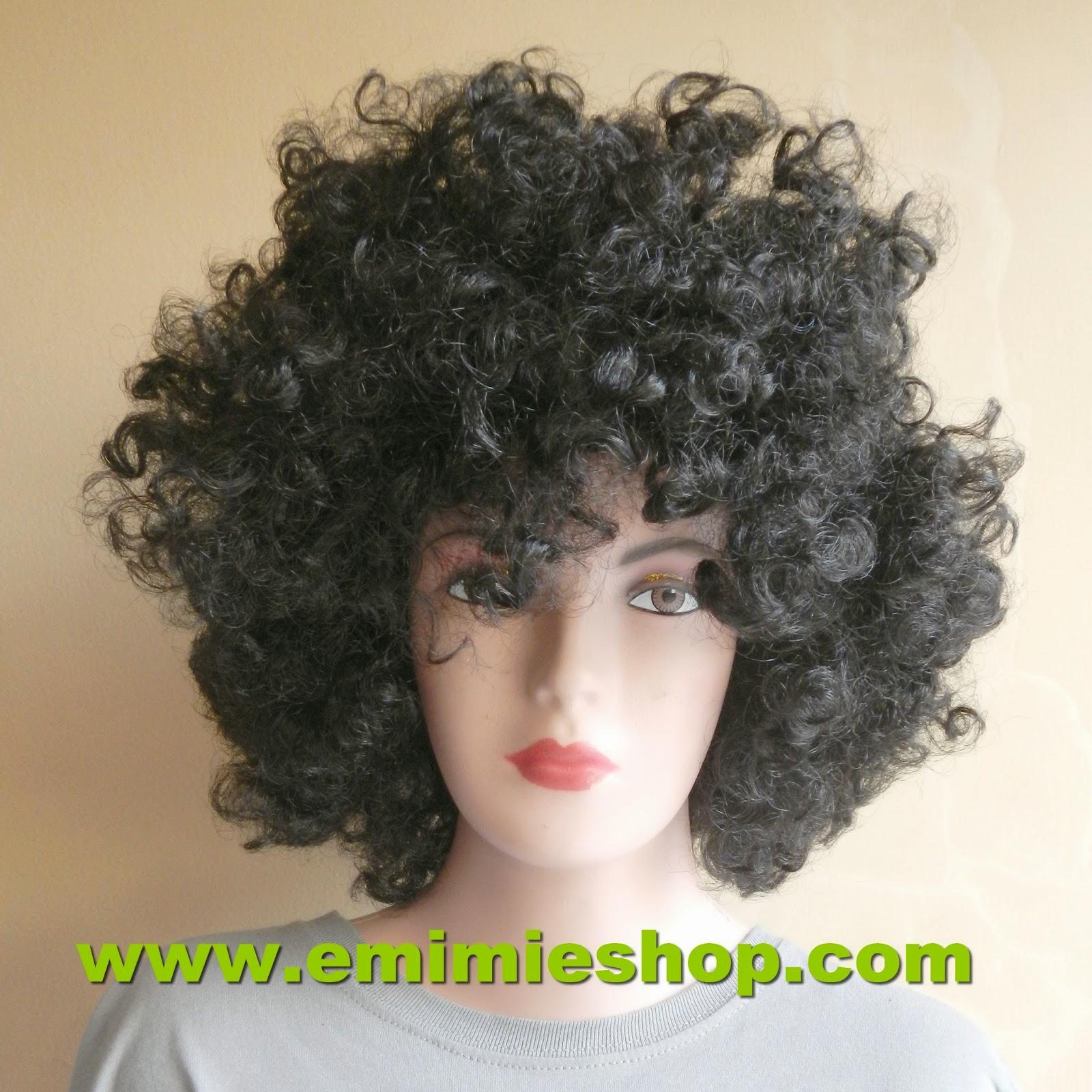 wig keribo keriting brekele hitam