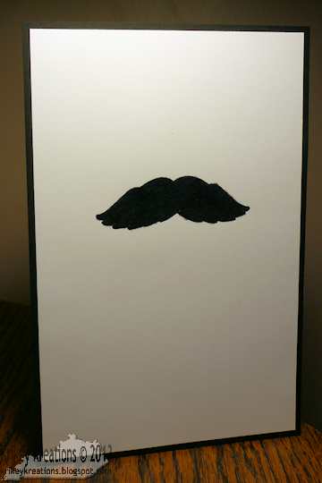 Krikey Kreations Simply Complex Fuzzy Mustache Card