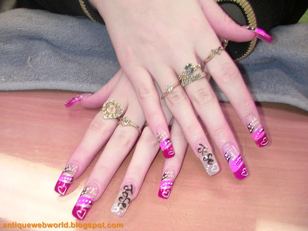 antique web world creative nail