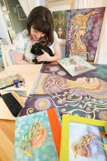 Welcome to my beloved blog about my life as an Inspired Artist, Rabbit Mama & Migraine Sufferer