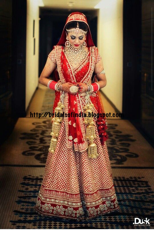 Fashion World Sabyasachi Red And Gold Bridal Outfit