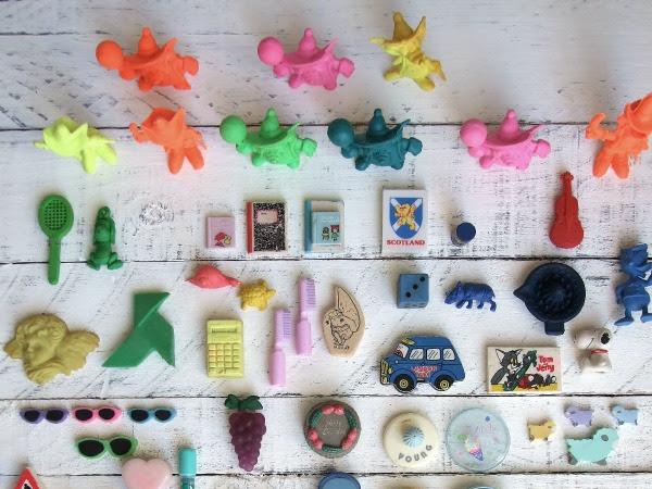 Colección, gomas de borrar.