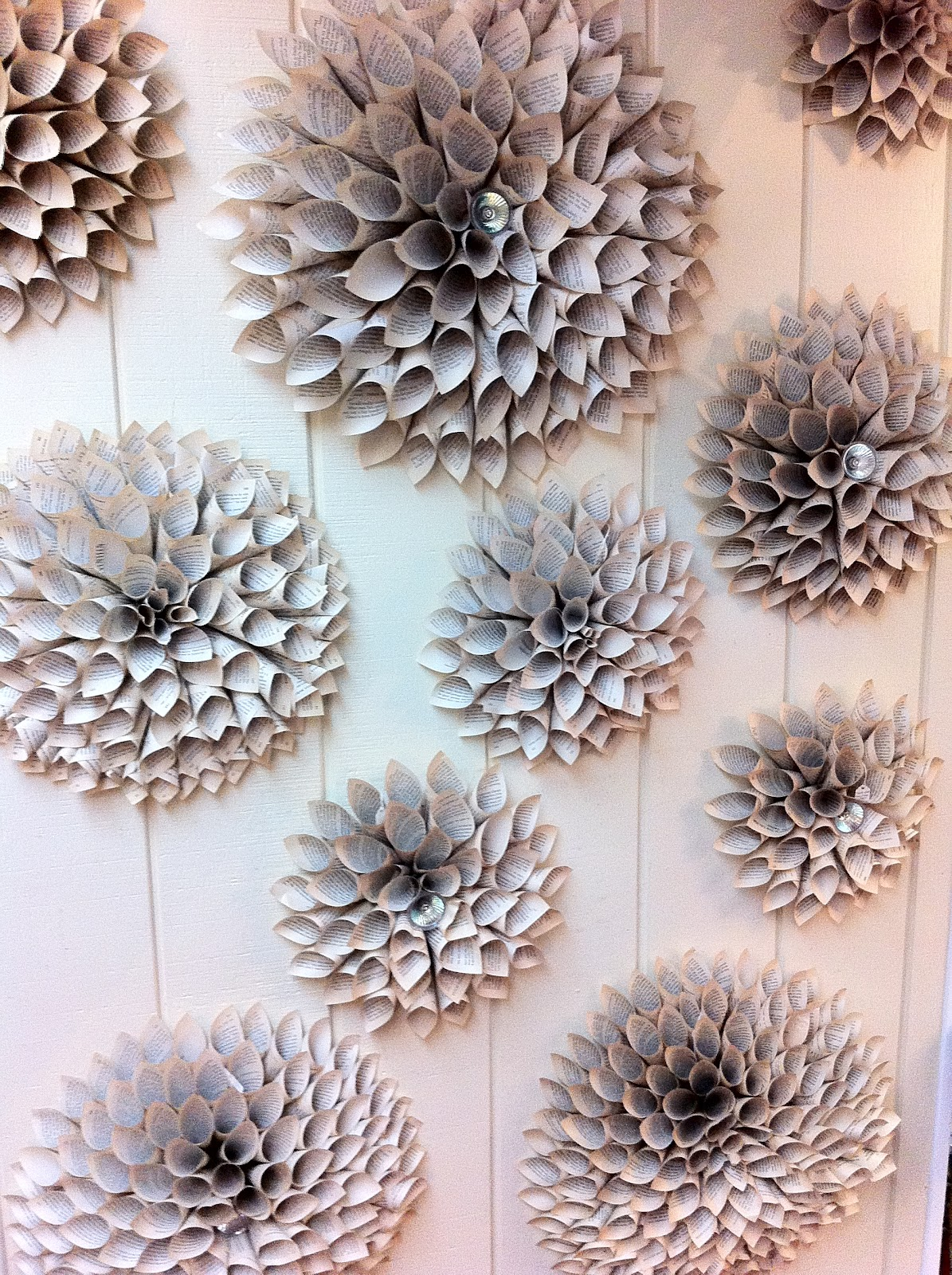 The enchanted petal how to make a paper flower medallion wall of paper flowers mightylinksfo