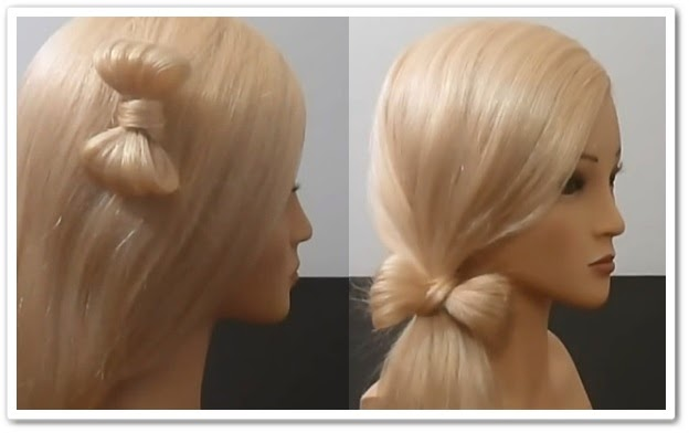 онлайн видеоурок Как сделать бантик из волос